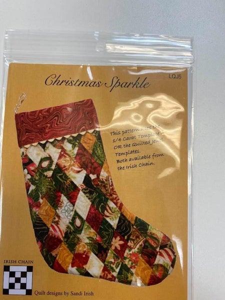 Pattern Christmas Sparkle Stocking *Final Sale*