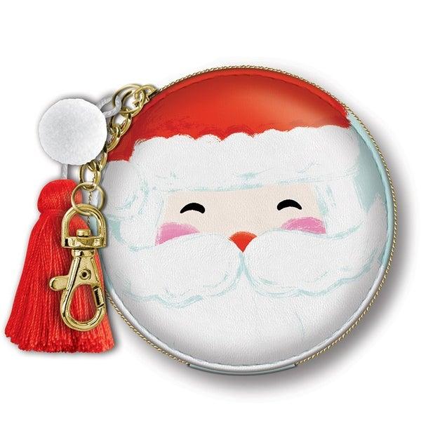 "Zip Pouch Santa  3.5"" Diameter"
