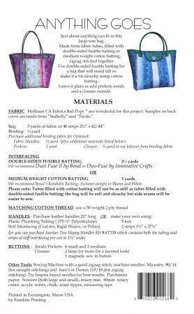Pattern:  Anything Goes *Final Sale*