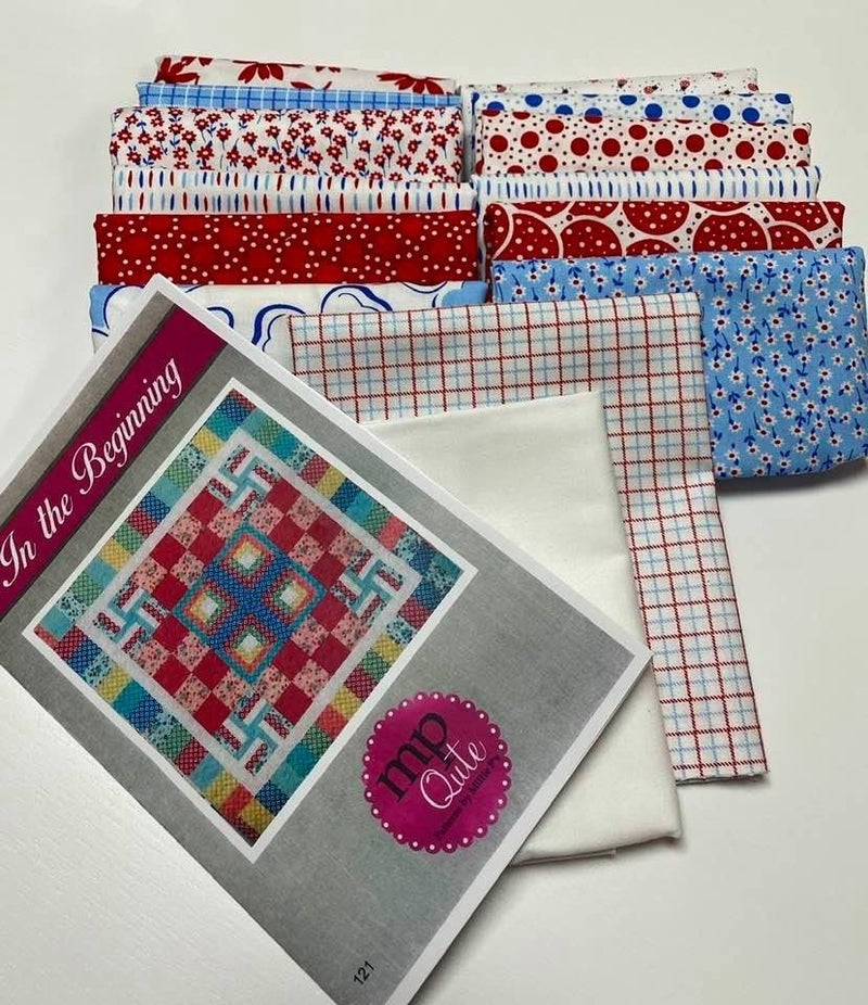 "Kit: In the Beginning Quilting Kit Option: A  45"" x 45"""