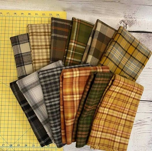 Marcus Primo Flannel Plaid 1/2 Yard Cuts (12)