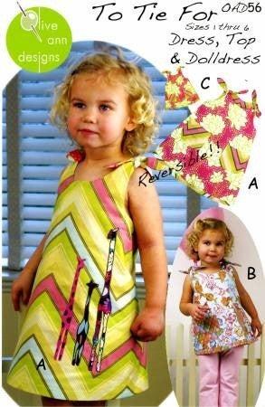 Pattern:  To Tie For Size 1 thru 6