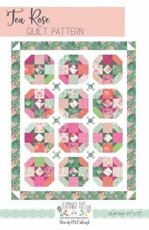 """Pattern: Tea Rose 57"""" x 72"""""""