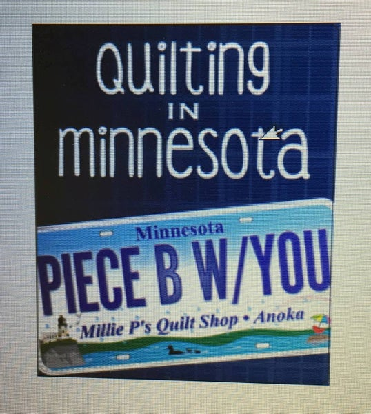 Fat Quarter Card:  Piece Be With You MN