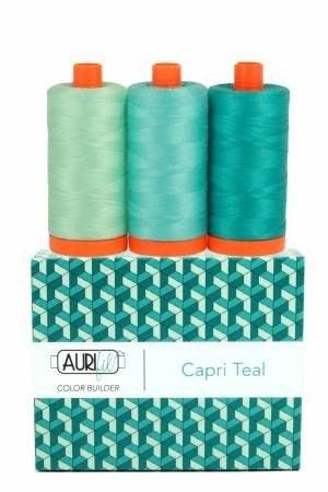 Aurifil Color Builder Capri Teal