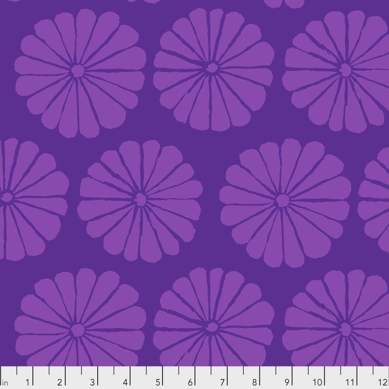 Kaffe -  Damask Flower - Purple - One Yard Cut