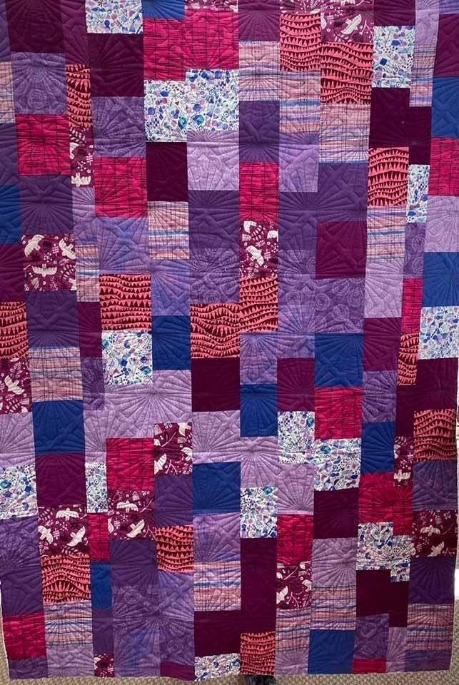 "Kit:  Play Nice - Brights & Cherrywood Bundle (inc.pattern) 44x65"""