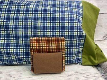 Kit: QMN Flannel Pillow Case Brown