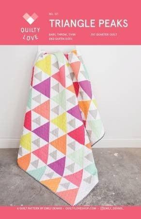 Pattern:  Triangle Peaks *Final Sale*