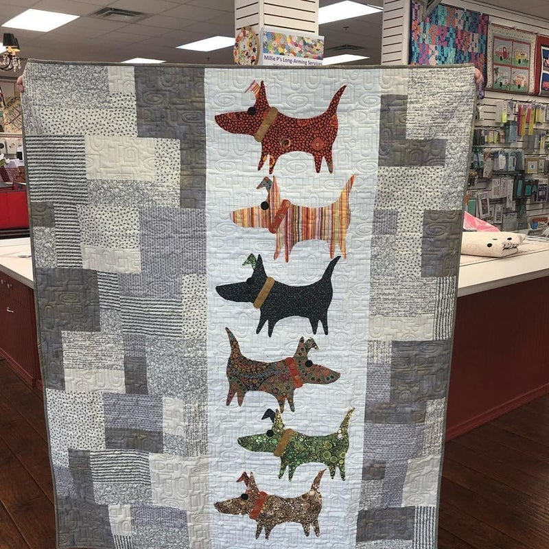 "Kit:  Mod Dog 53"" x 64"" (Includes Pattern)"