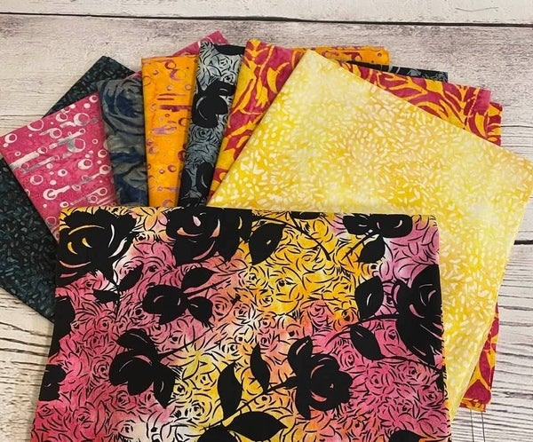 Batik Bundle (8) 1/2 Yard Cuts