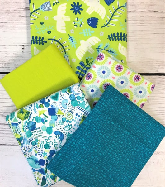BYOK - Marbella Acid Green kit (2 1/2 yards fabric)