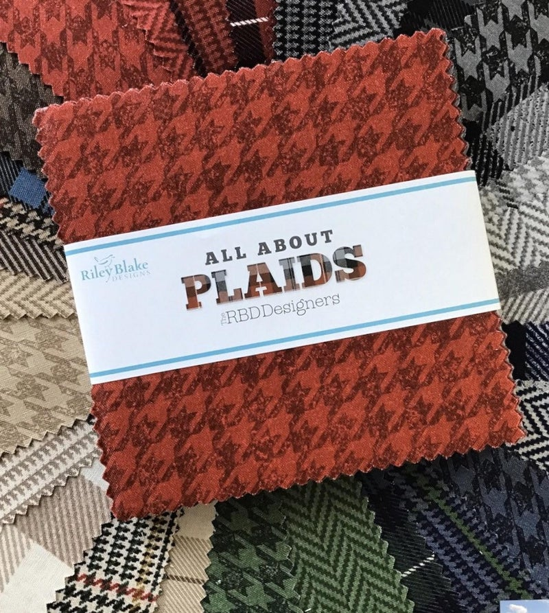 """5"""" Charm All About Plaid by RIley Blake"""