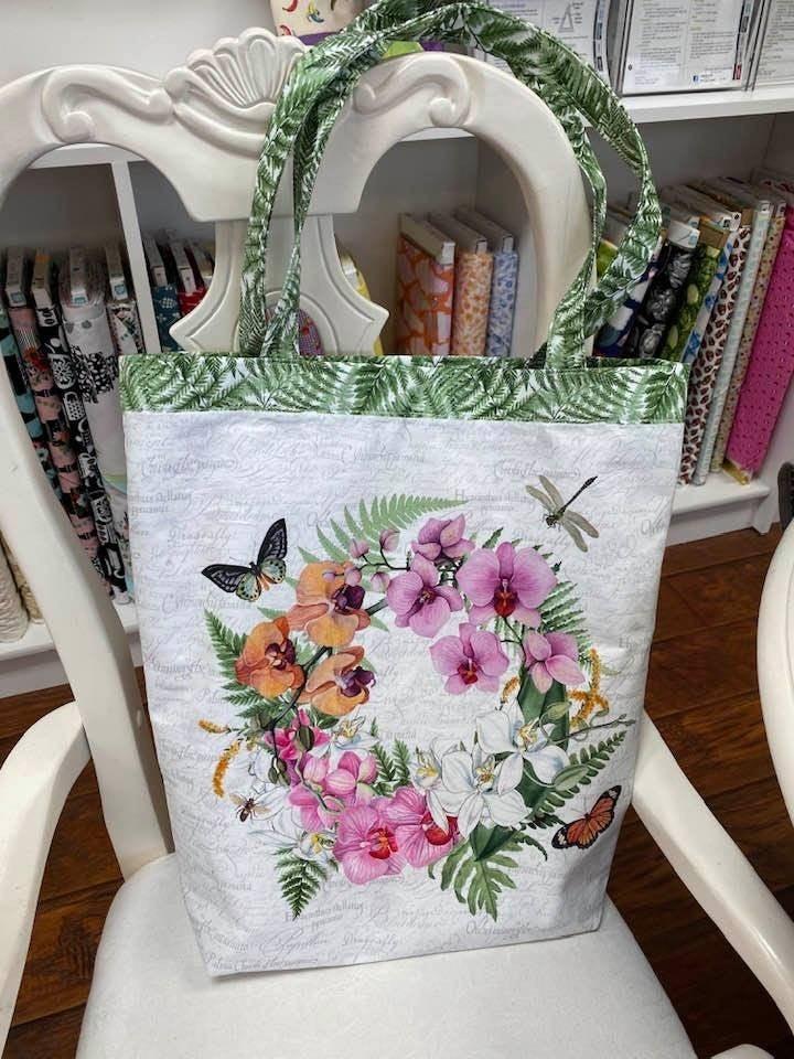 Kit:  Canvas/Flower Marketbag Kit