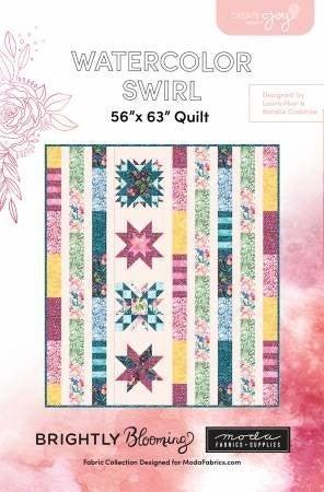 """Pattern: Watercolor Swirl 56"""" x 63"""""""