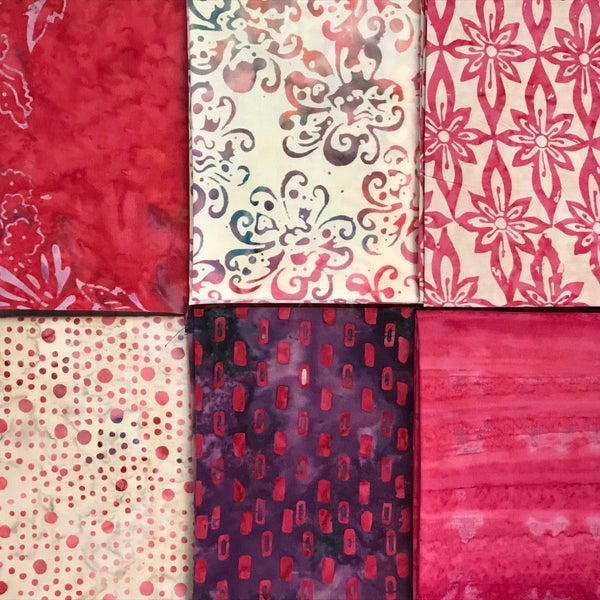 FQ Bundle (6) Think Pink Batik