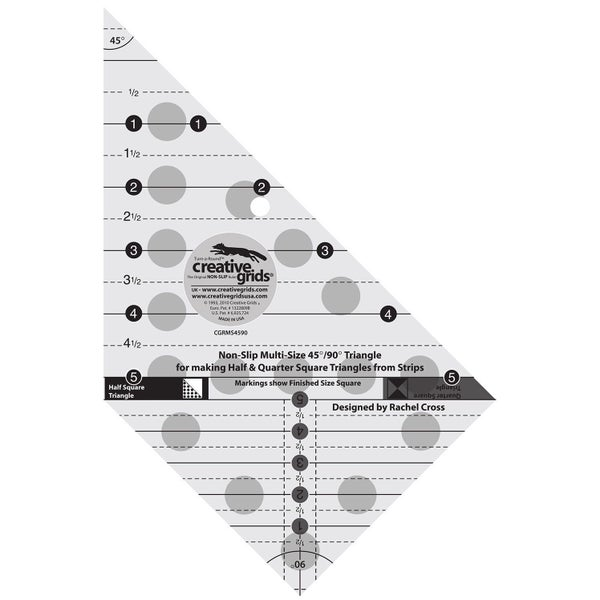 Creative Grids Triangle Ruler 45/90 degree