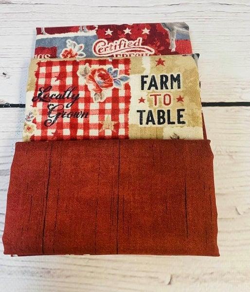 Kit:  June Tailor Lunchbox Farm(Need Batting/Zipper Kit)