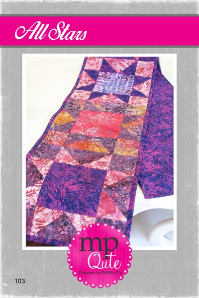 "MP Qute Pattern:  All Stars Table Runner  12"" x 60"" or 24"" x 36"""
