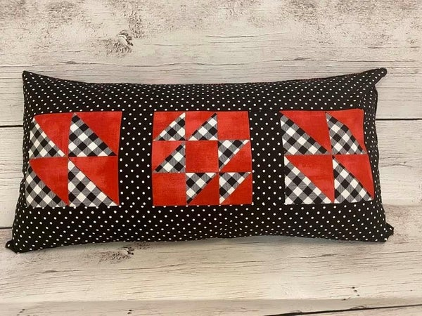 Ticket to Quilt Pillow Kit (Includes all fabric, zipper and pattern)