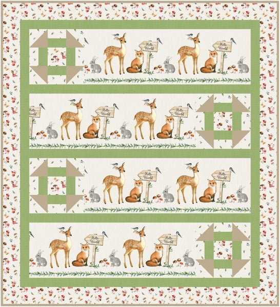 "Kit:  Watch Me Grow Baby Quilt 45.5"" x 50"" Inc. Pattern"