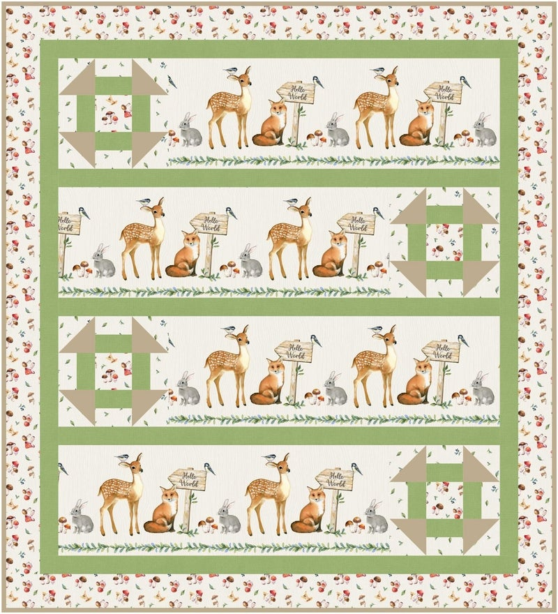 """Kit:  Watch Me Grow Baby Quilt 45.5"""" x 50"""" Inc. Pattern"""