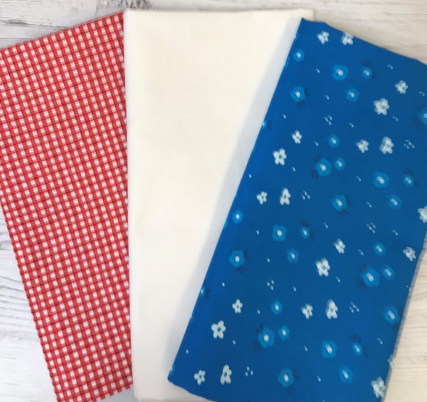One Yard Cuts (3) - Red White and Blue