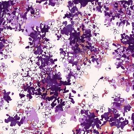 RJR Ink Rose  Lili Flowers Dawn - 1 Yard