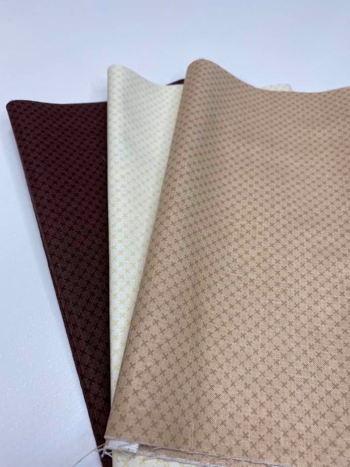 RB Kisses (3 - Brown, Cream and Beach) Fabrics in Half Yard Increments