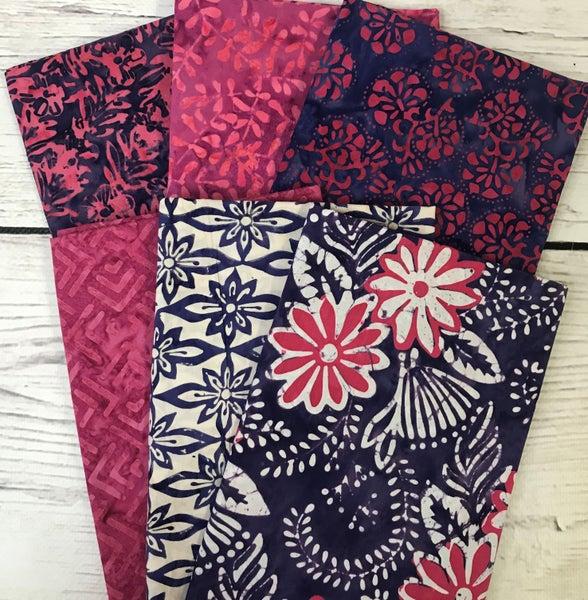 Six Half Yard Cuts - Batik Flower Power