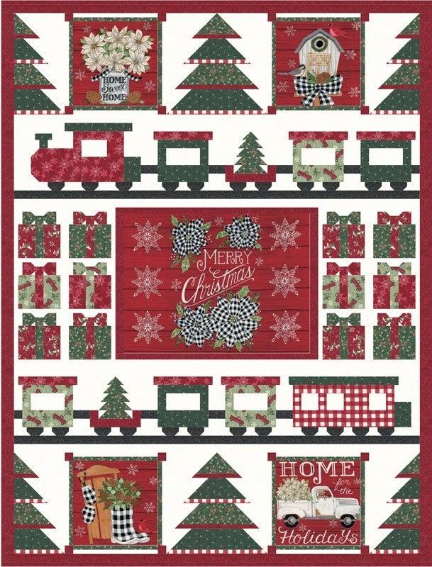 "Kit:  Home Sweet Holidays (50"" x 66"") Inc. fabric & Ptrn."