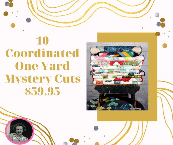 Mystery One Yard Cuts (10 Coordinated Cuts)