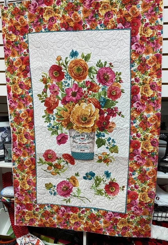 """Kit:  Roots of Love Panel Wall Hanging 35"""" x 54"""""""