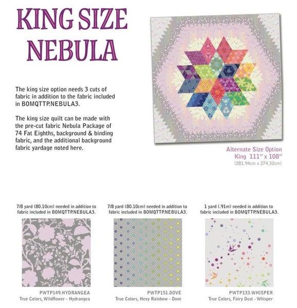 Nebula King Size Add-On  (3 fabrics, one yard each)
