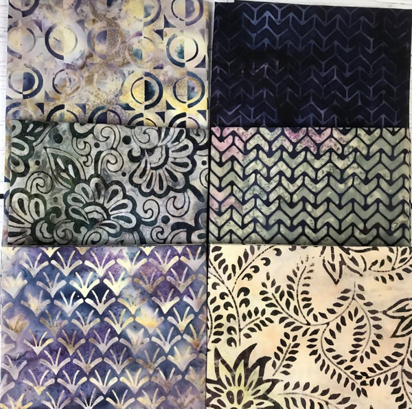 Fat Quarter Bundle (6) Batik Plums