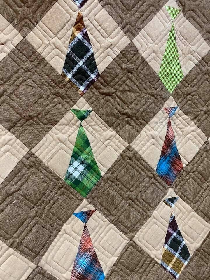 Daddy's Ties Flannel Kit (Includes Free Pattern) 52 x 60""