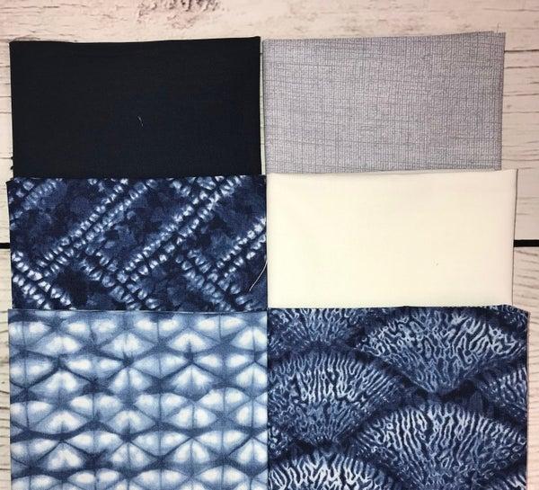 FQ Bundle (6) Navy Tie Dye