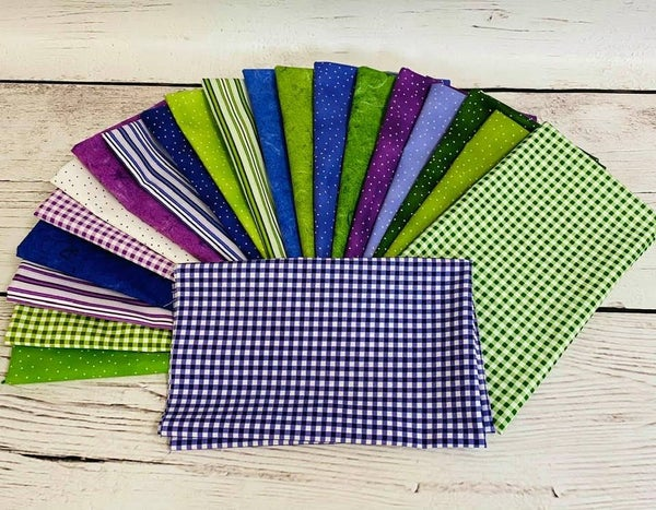 Fat Quarter Bundle (21) Purples/Greens