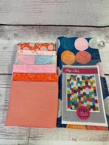 "Kit: Play Nice Cotton & Steel Inc. Pattern  57"" x 78"""