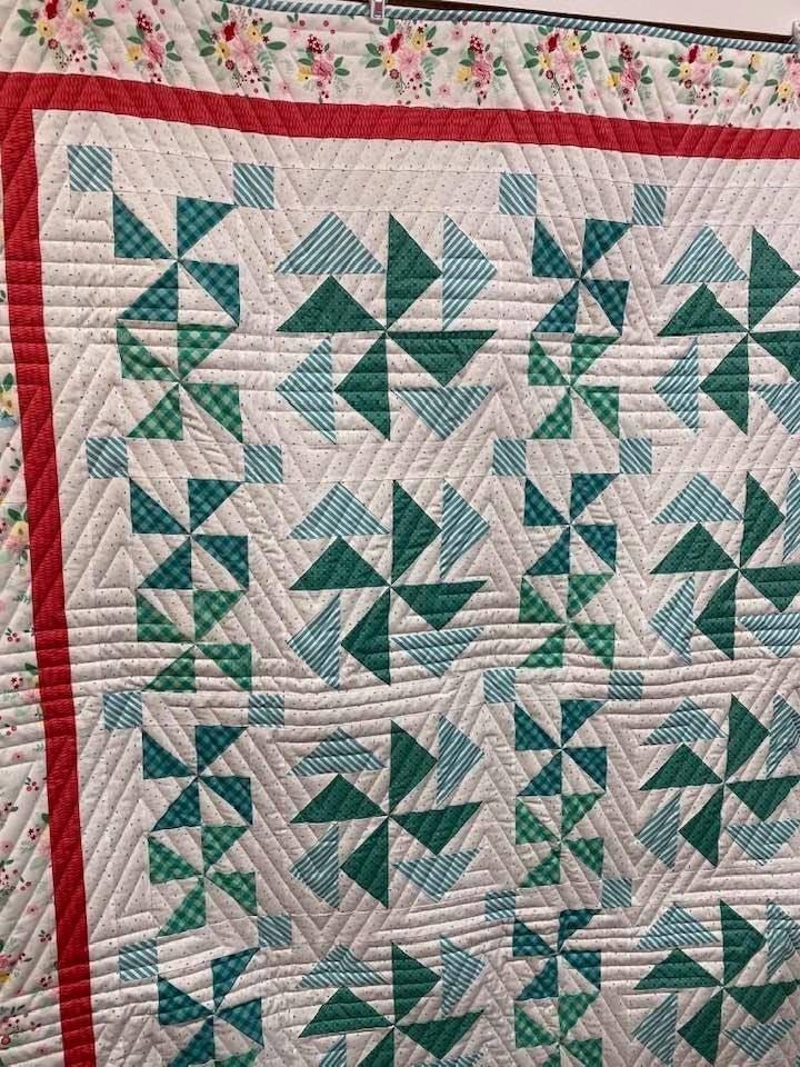 "Kit:  Plaid Farmhouse 68.5"" x 72.5"" Inc. Fabric, Ptrn & Triangles"