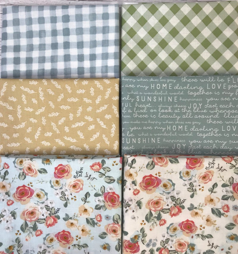Fat Quarter Bundle (6) RB Gingham Garden