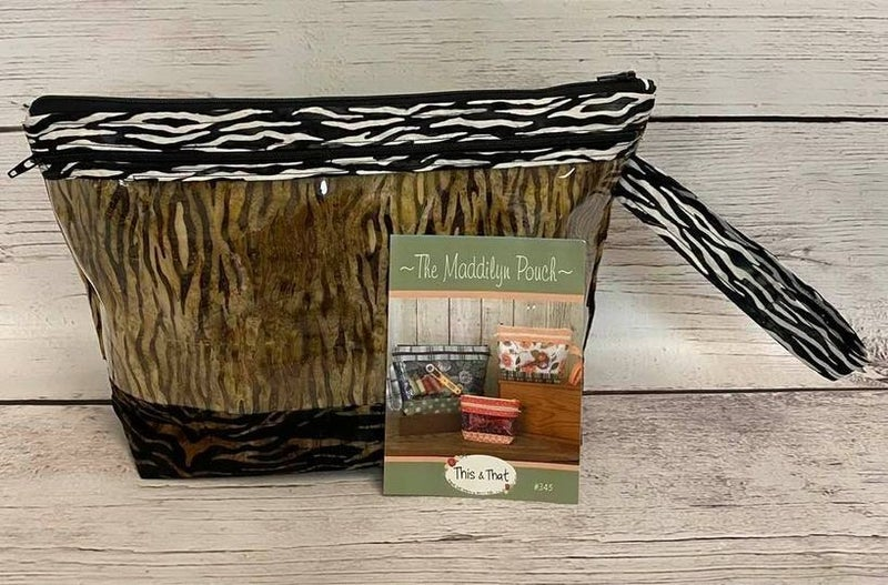 "Kit:  Maddilyn's Pouch Large (Dark Batiks) Includes Ptrn.   10"" x 14"""