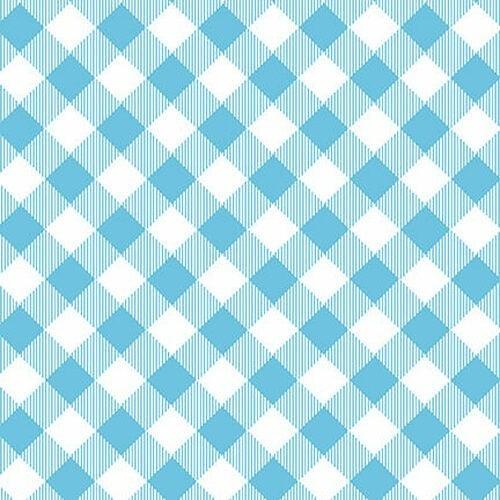 Henry Glass  Pretty Plaids Blue - 1 yard
