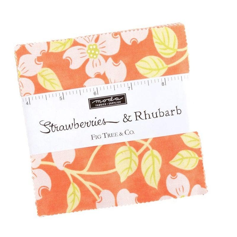 "Strawberries & Rhubarb 5"" Charm pack"