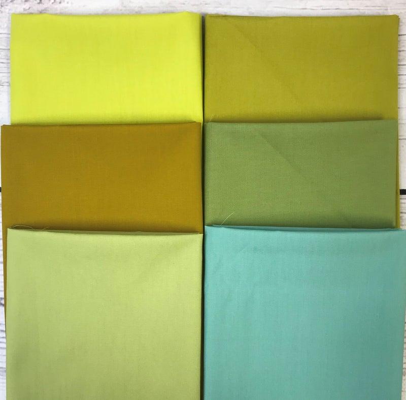 FQ Bundle (6) Solid Greens