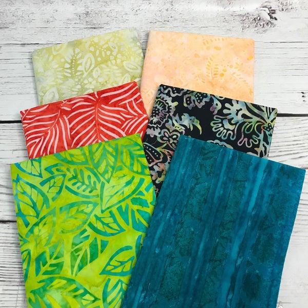 FQ Bundle (6) Sherbet Batiks