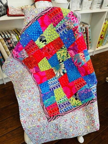 """Kit:  Easy Street Kaffe  37"""" x 44"""" Includes Pattern  Need Straight out of Line RUler"""