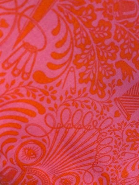 """Two Yard Tula Pink HomeMade Pink/Orange 42"""""""