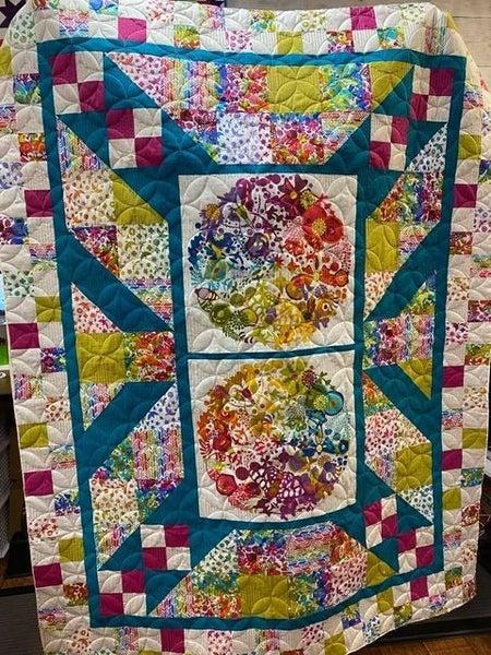 "Kit:  Alison Glass Art Theory Panel Blast (Need Pattern Panel Blast) 63x81"""