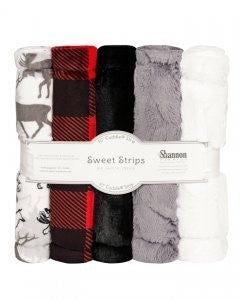 "Five Pack 10"" Luxe Cuddle Strips Scarlet Park"